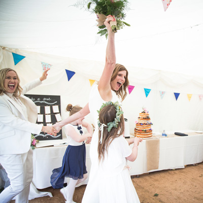 Lis & Evanna's beautiful country wedding in East Sussex