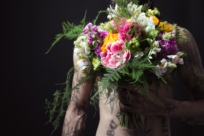 Wedding flowers for a creative photography photoshoot